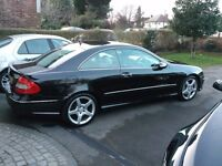 Mercedes CLK 220 CDI AMG Sport Coupe Diesel Top Spec Black/Cream Factory fitted AMG Pack