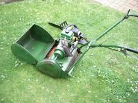 RANSOMES 14 CYLINDER LAWNMOWER 4 STROKE NORTON VILLIERS ENGINE WORKING + FREE CHAINSAW FOR SPARES