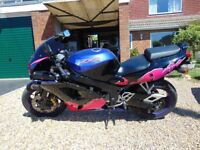 kawasaki zxr750 , years mot , rare colour scheme