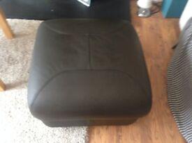 dark brown timsfors leatherette footstool
