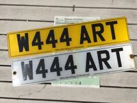 Private number plate, cherished plate.ART plate.Perfect for an artist.Ready to go onto car, Mercedes