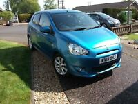 MITSUBISHI MIRAGE 1.2 3 LOW MILEAGE 5,034.ROAD TAX 0