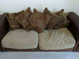 Sofa half leather 2 and 3 seater REDUCED