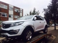 2012 Kia Sportage 2 1.7 CRDI Diesel White Salvage Damaged Repairable