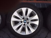 Genuine BMW 5 series Alloy Wheels with Winter Tyres 245/45/R17 99V