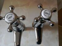 Pair of brand new excellent quality Barber Wilsons & Co 'heritage' style basin taps.