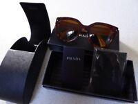 Genuine Prada Sunglasses with box, case and tags