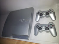 PS3 320GB Console Limited Edition SILVER + 2 Controllers + 4 games