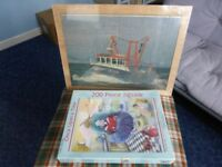 Puzzles (2) Once upon a time (The Fish Lizard of Lyme) & Spanish Eyes trawler in frame. Brand new