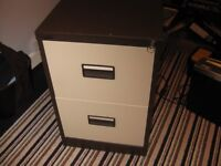 Two Drawer Steel Filing Cabinet by Royale