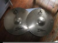 "ZILDJIAN CUSTOM A MASTERSOUND 14"" HI-HATS"