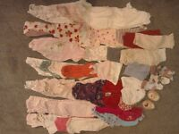 Bundle of baby girl clothes 0-3months