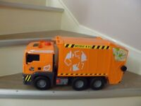 Recycle lorry and bin