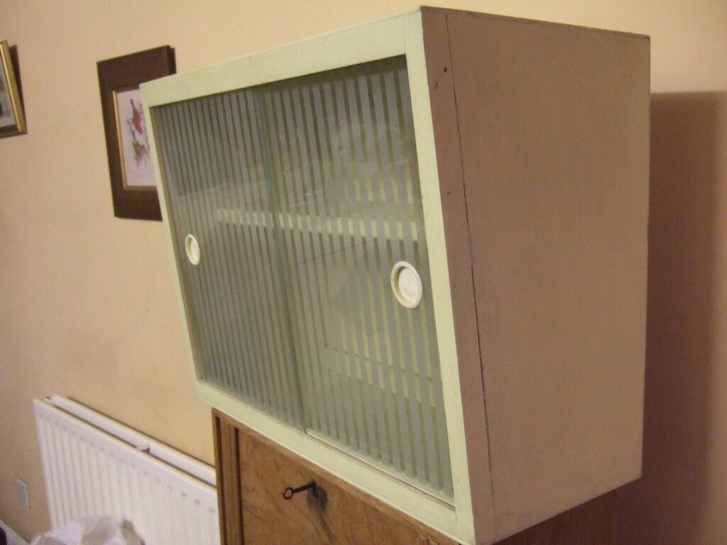 Vintage retro 1950s kitchen wall cabinets, 3 available ...