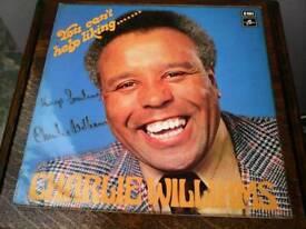 CHARLIE WILLIAMS EMI LP P!US TURNSTYLE LP BOTH SIGNED