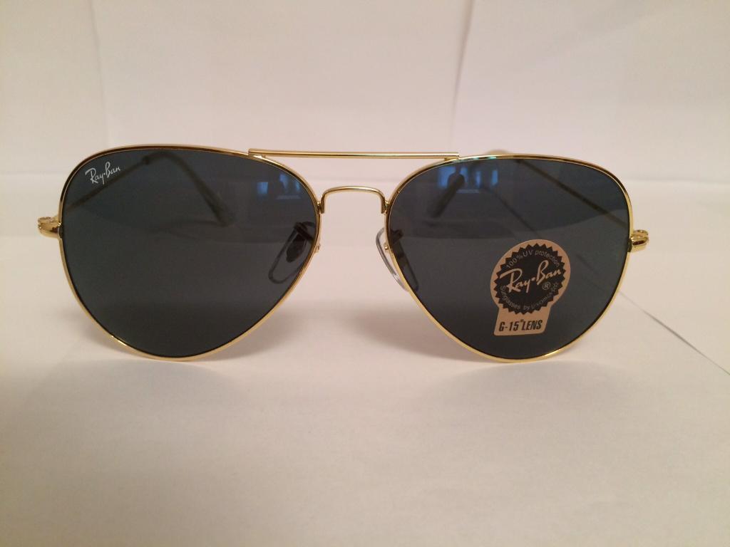 Ray Ban Aviator Sunglasses RB3025 (gold frame/dark grey lens)