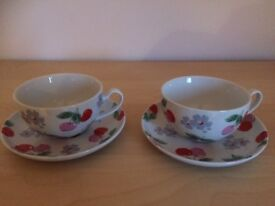 Cath Kidson Cups & Saucers Set of 2