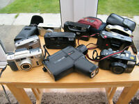 Collection of 'old' cameras, approx 12/13 in total