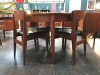 GPlan Dining Table in Teak (Extending) & 4 Chairs. Retro Vintage Mid Century