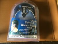 Motorola wireless headset with blue tooth. Brand new and still in packaging.