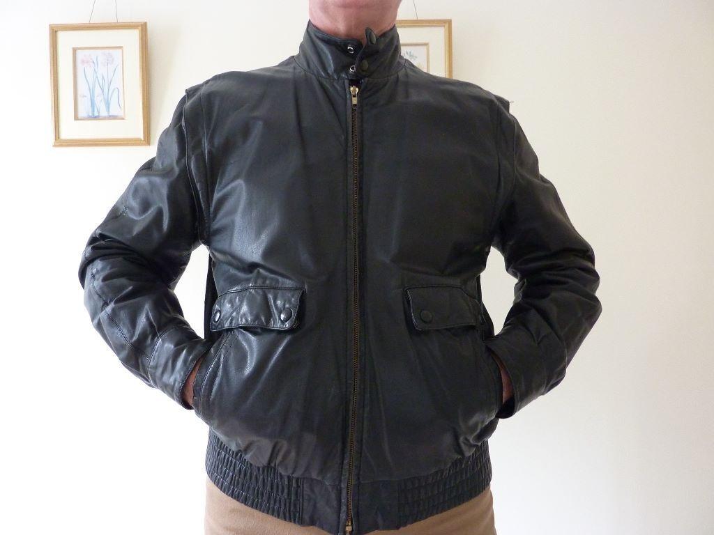 Mens jacket marks and spencer - Mens Marks Spencer Leather Jacket In Black Size 41 43