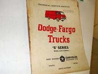 1966 Dodge/Fargo TRUCKS ,RARE/ORIGINAL Service Manual