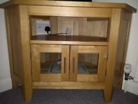 Solid wood tv and dvd corner unit