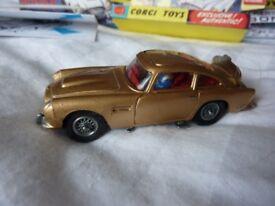 Vintage 1960s Corgi Aston Martin DB5 James Bond 007 Goldfinger dinky matchbox action man