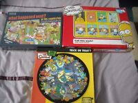 Selection of Adult Jigsaws including 2 Simpsons Jigsaws -excellent condition