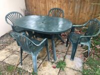 Patio table & 4 chairs - bargain £60