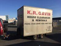 Twin wheel box trailer