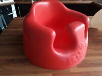 Red Bumbo. With tray