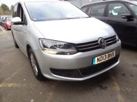 VOLKSWAGEN SHARAN 2.0 TDI CR BlueMotion Tech 140 SE 5dr (silver) 2013