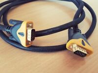 2.5M MALE TO MALE SVGA/VGA PC MONITOR TO TFT CABLE LEAD