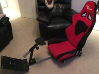 Open wheeler racing gaming chair PS3 PS4 Xbox 360 one