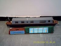 rc model canal boat and extras