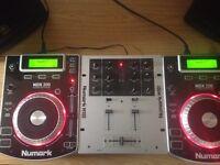 Pair of Numark NDX 200 CDJ's and M101 Mixer