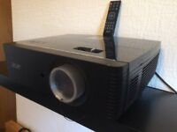 Acer P7215 1080p 3D HDMI Network DLP Professional 6000 ANSI Projector, Crisp Display, Full Working.