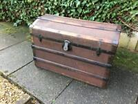 Pirate chest Vintage Eagle Lock Chest/Trunk by Terryville CT.