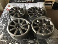 Genuine 17 inch 5x100 Audi TT Rs4 9 Spoke Alloy Wheels Set of 4