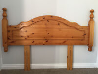 Pine Bedroom Funiture inc Headboard, 2 sets of Chest of draws & Dressing table
