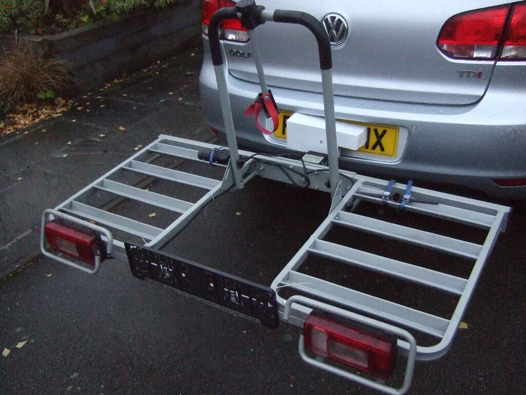 EuFab 4-Bike carrier - towball mount, built-in lights and number ...