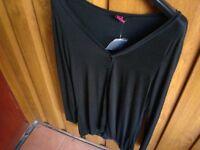 Ladies Black Cotton Cardigan---Brand New!