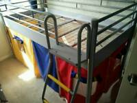 Single Mid Sleeper Captains Bed with optional play curtains
