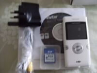 VIVITAR DIGITAL CAMCORDER 892HD - White (Brand New & Boxed)