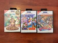 3x Sega Master System Games