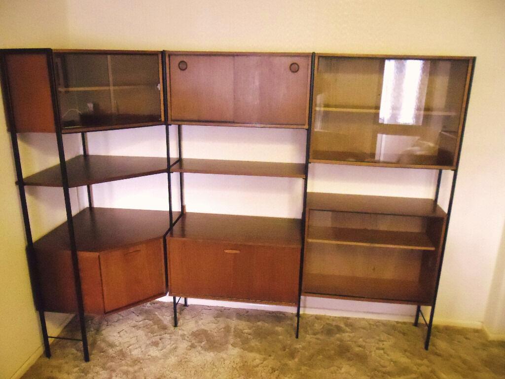 Avalon retro teak ladderax modular shelving units living room furniture or dining room - Modular dining room ...