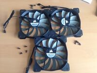 Corsair 140mm Case Fans (A1425L 12S-2) - three for sale