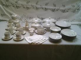 porcelana real brasil, white blossom design