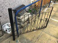 Black cast iron gate